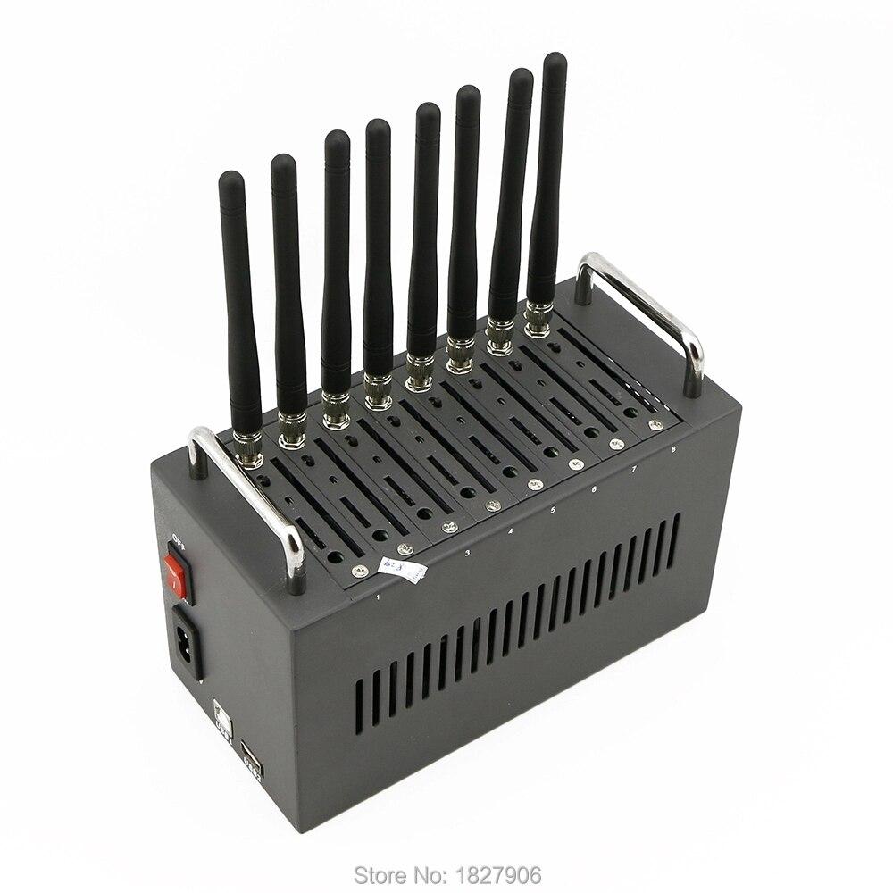 Bulk sms 8 port gsm modem wavecom 8 sim card gsm modem pool Wavecom q2303 Simbox modem pool Support Imei Changing