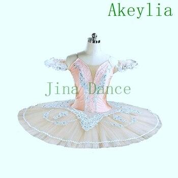 Cream Professional Ballet Tutu Orange Classical Pancake Platter Tutu Skirt Peach Nutcracker Ballet Stage Costume Esmeralda tutu недорого