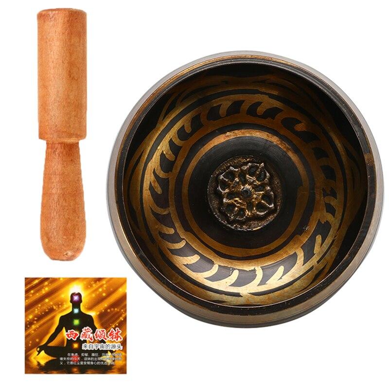 Tibetan Singing Bowl Buddhism Meditation Bell Hand Hammered Buddhist Brass Bowl Yoga Copper Chakra Healing Spiritual Gift