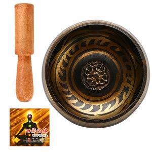 Tibetan Singing Bowl Buddhism Meditation Bell Hand Hammered Buddhist Brass Bowl Yoga Copper Chakra Healing Spiritual Gift(China)