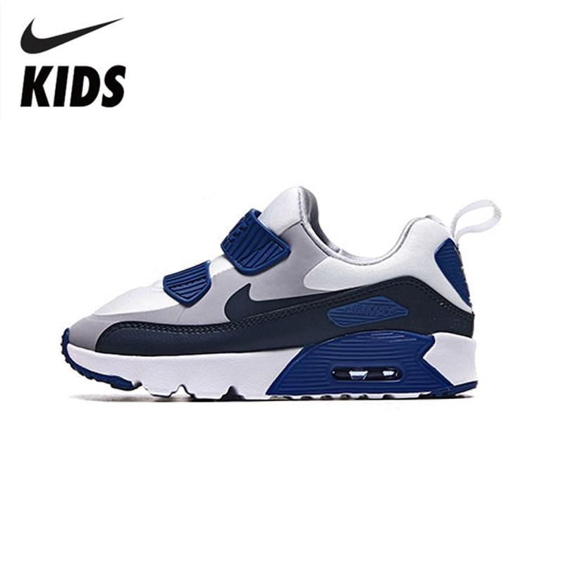Nike Air Max 90 Kids Original Children Shoes Spring And Autumn Air Cushion Comfortable Sneakers #881927-003