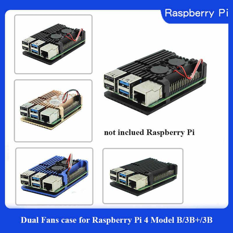Raspberry Pi 3 Fall Aluminium Silber Grün Schwarz Fall Metall Gehäuse RPI 3 Box Kompatibel mit Raspberry Pi 3 Modell B