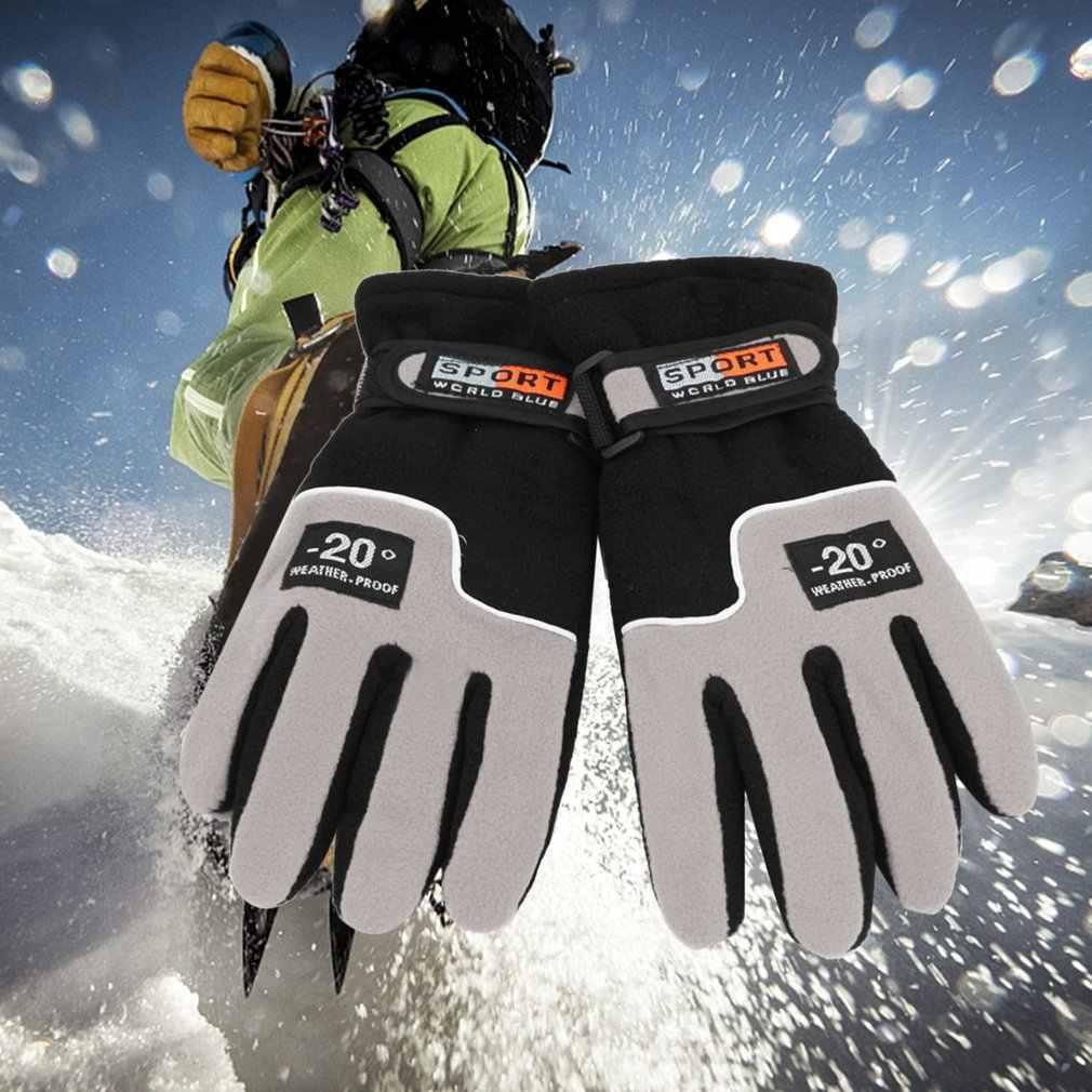 Kış Sıcak Rüzgar Geçirmez Tam Parmak Erkekler Kadınlar Spor Eldiven Unisex Motosiklet Sürme Kayak Eldiven Kar Snowboard Kayak Eldivenleri