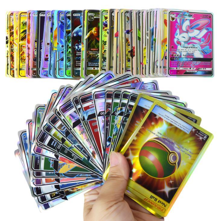 200 Pcs GX EX MEGA Pokemones Cards Game Battle Carte 324pcs Trading Cards Game Children Toy Pokemon Cards
