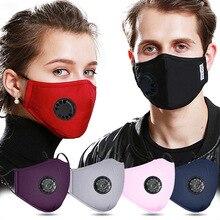 Mask Respirator Reusable-Mask Anti-Dust FILTER Valve Face-Protection PM2.5 Cotton Warm