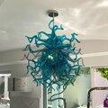 Винтажный дизайн люстры 28 дюймов рот выдувного стекла светильник для гостиной настольный