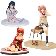 Yuigahama Yui сидя с стулом школьница экшн фигурка модель аниме Мой подросток романтическая комедия SNAFU ПВХ Модель игрушка 18 см