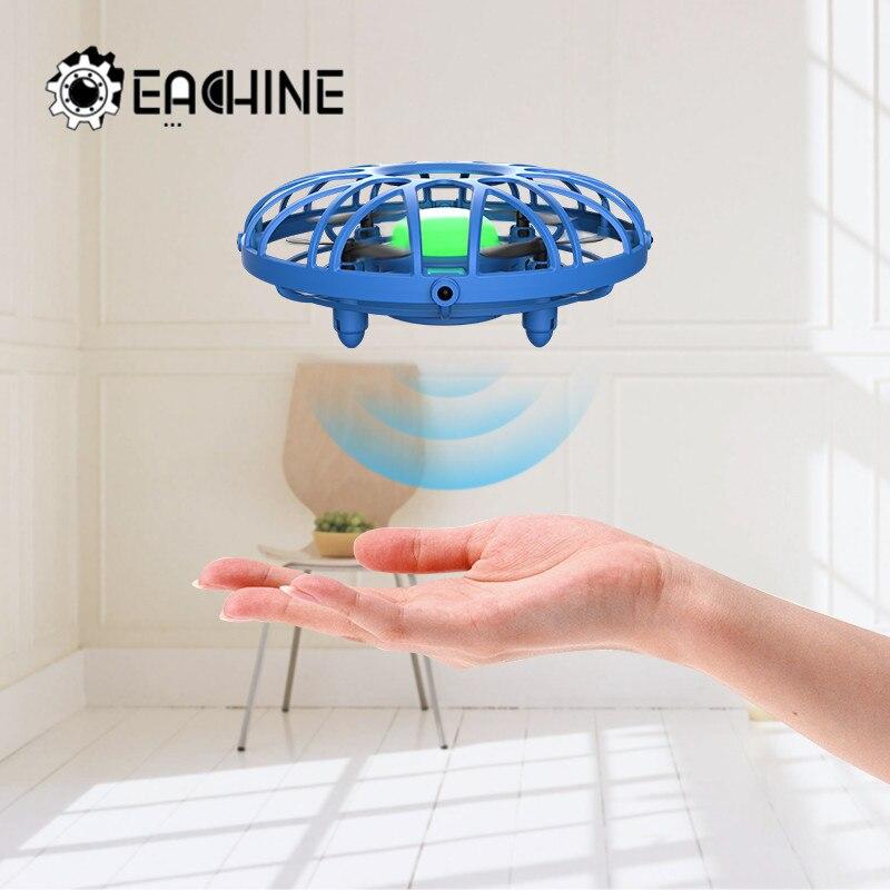 Мини-Дрон с инфракрасным датчиком eachine E111, ручной Летающий Квадрокоптер с инфракрасным датчиком, Intlligent BNF, детская игрушка с дистанционным у...