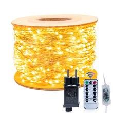 Dài Nhất Chống Nước Ngoài Trời Nhà 30M 50 100M Đèn LED Tiên Đèn Trang Trí Vòng Hoa Giáng Sinh Cưới Năm Mới của Vòng Hoa