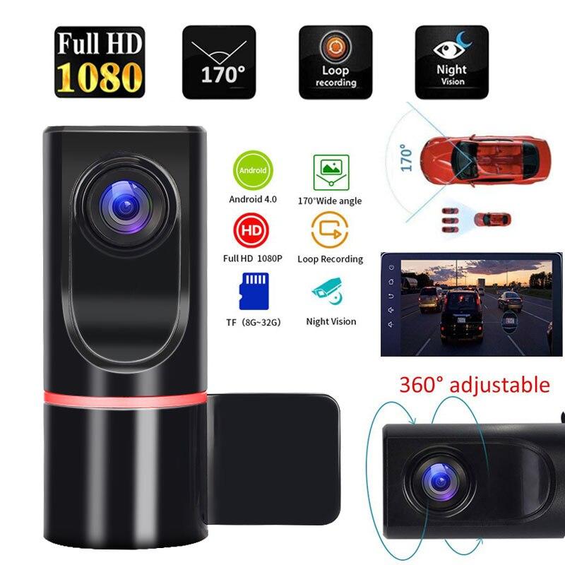 ADAS Dash камера Автомобильный видеорегистратор Камера рекордер вождения видео рекордер для Android автомобильное радио USB Поддержка TF карта обна...