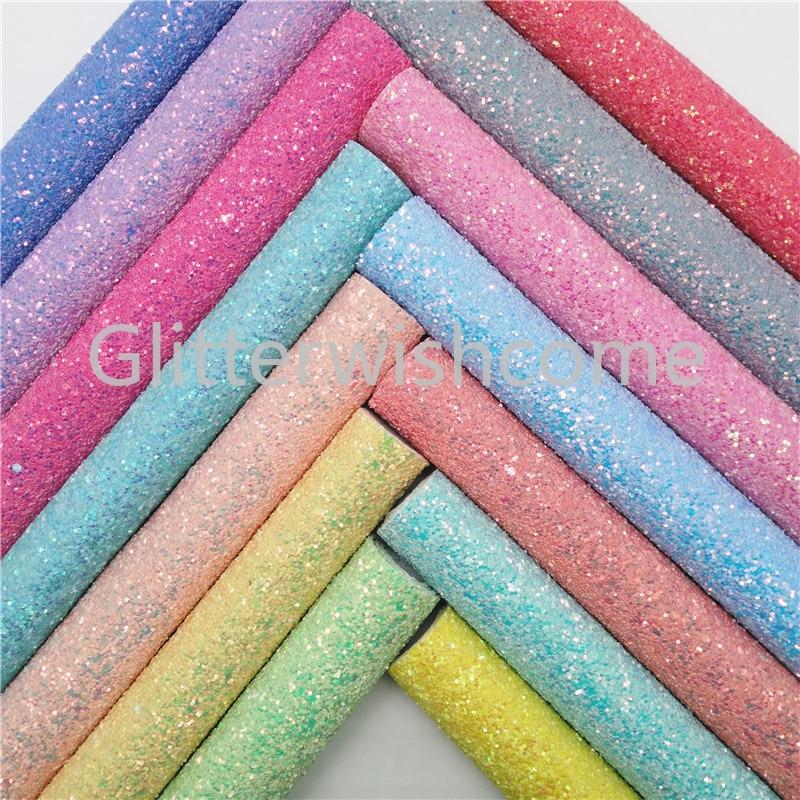 A4 Tela Brillo Pastel Grueso Tela Hojas de Cuero de Imitación Para Arcos Pelo Craft