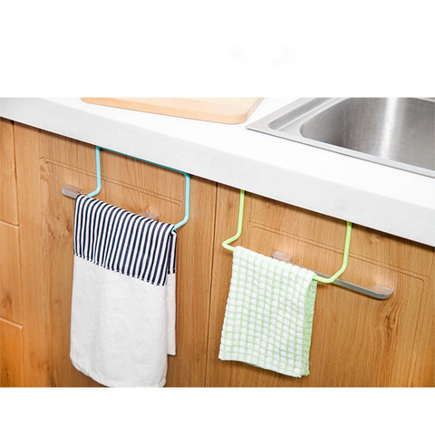 Kitchen bathroom towel rack rag rack bathroom cabinet cupboard door hanging rack kitchen supplies accessories Pakistan