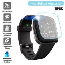 1/3/5 шт. закаленное стекло для защиты экрана умных часов Fitbit versa 2, качественные аксессуары, прозрачная Чувствительная защитная пленка 8