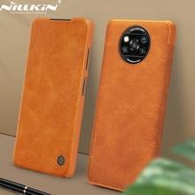 NILLKIN كين الوجه غطاء ل شاومي بوكو X3 NFC جلدية الغلاف الخلفي بطاقة جيب الحال بالنسبة Poco X3 NFC النسخة العالمية الولايات المتحدة الشحن