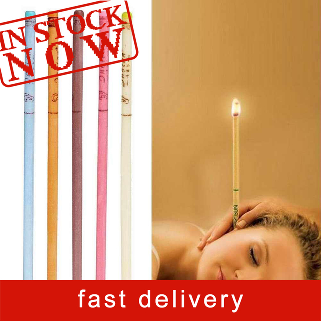 10pcs/lot Ear Wax Removal Candle Cleaning Candles Healthy Care Hollow Coning Treatment Indiana Therapy Fragrance Wax Candle Tool