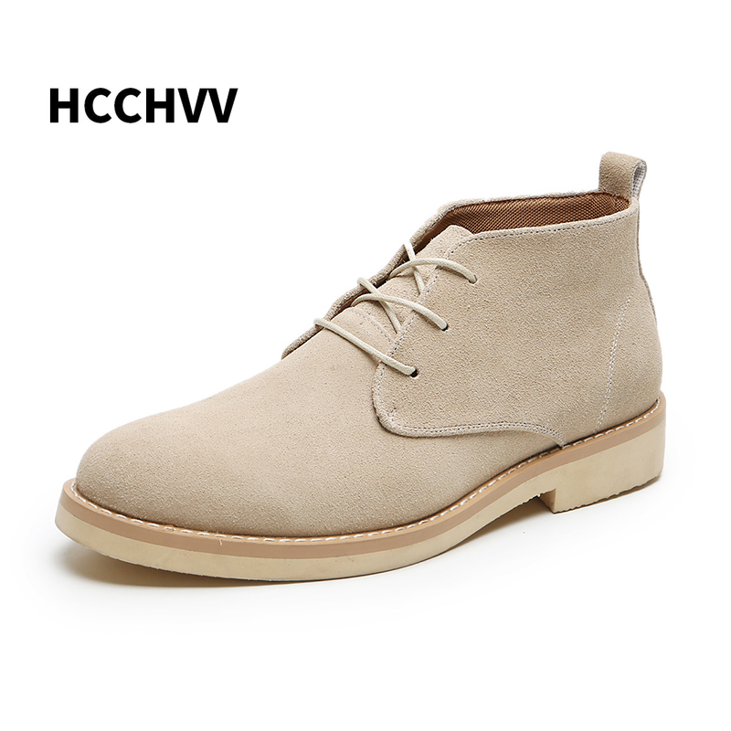 Autumn Winter Desert Work Military Shoes Men\'s Casual Motorclcye Boots Leather Men\'s Snow Boots Men\'s Scrub Oversize 37-47