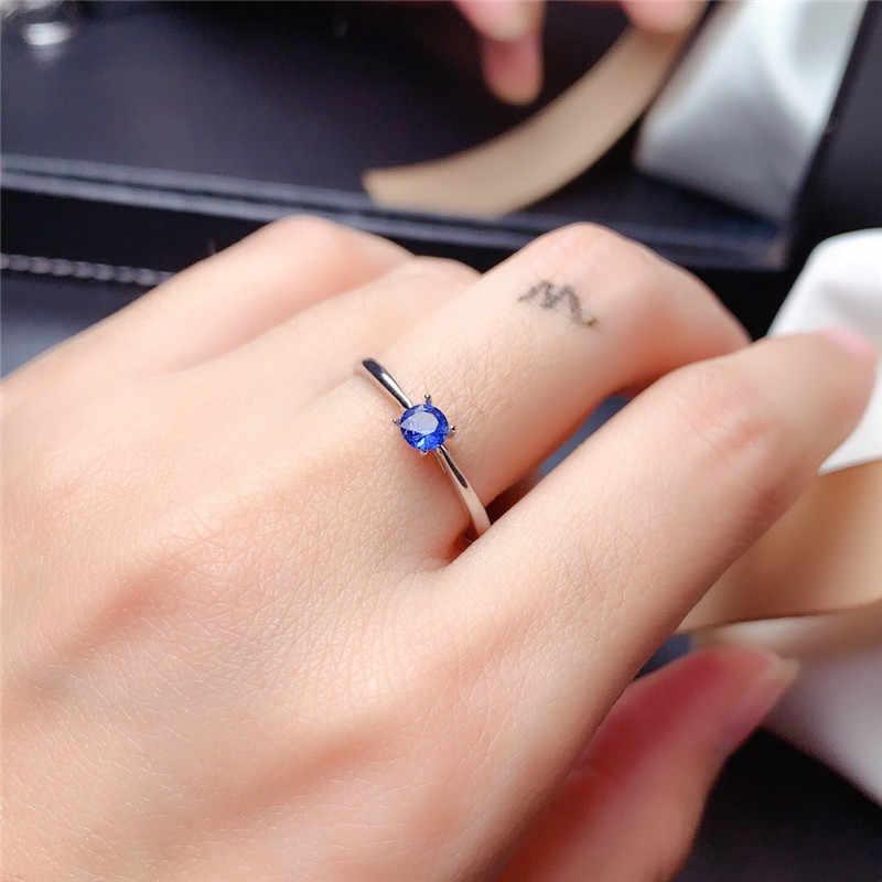 Sri Lanka Sapphire Ring für frauen 925soild sterling silber 3mm blau natürliche edelstein feine schmuck für mädchen jahrestag geschenk