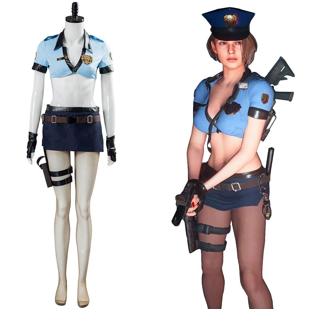 Jill Valentine Cosplay Kostüm Uniform Outfit Top + Shorts Halloween Karneval Kostüme Nach Maß