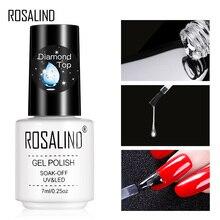 Алмазный Гель-лак ROSALIND, верхнее покрытие, УФ-лампа, гель, не впитывается, укрепляющий, 7 мл, долговечный Гель для маникюра, лак, праймер
