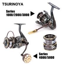 Tsurinoya Jaguar 1000/2000/3000/4000/5000 Double Spool Spinning Reel Ultralight Ajing Carp Casting Reel Coils For Sea Fishing