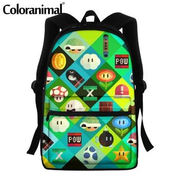 Coloranimal 2020 Japanese Anime Mario Design School Bags For Teenger Girls Boys Casual Backpacks Large Scool Bag Men Satchel 20