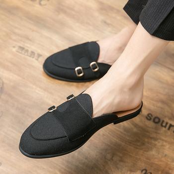 Luksusowe męskie mokasyny na co dzień wsuwane wsuwane buty na płaskiej podeszwie wesele sukienka buty letnie proste męskie buty tanie i dobre opinie MINUSIKE PŁÓTNO podstawowe CN (pochodzenie) Na wiosnę jesień Buty casualowe RUBBER Dobrze pasuje do rozmiaru wybierz swój normalny rozmiar