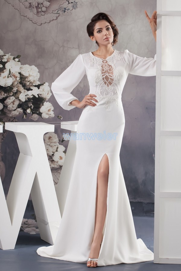 Free Shipping 2016 New Design Custom Color/size Gown Cap Sleeve High Neck Long Sleeve Women Chiffon Mother Of The Bride Dresses