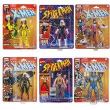 15cm Hasbro Marvel Legends X-Men Anime Figure Gambit Storm Rogue Retro Hanging Card Action Figure Collection Model Toys