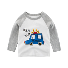 Boys T-Shirt  Tops Long-Sleeve Kids Girls Toddler Cotton Print Car Cartoon 2-8 Years Tees Children Spring Clothing Clothes t shirts kids clothing tops boys girls toddler long sleeve baby cartoon children cotton summer print car machine tees