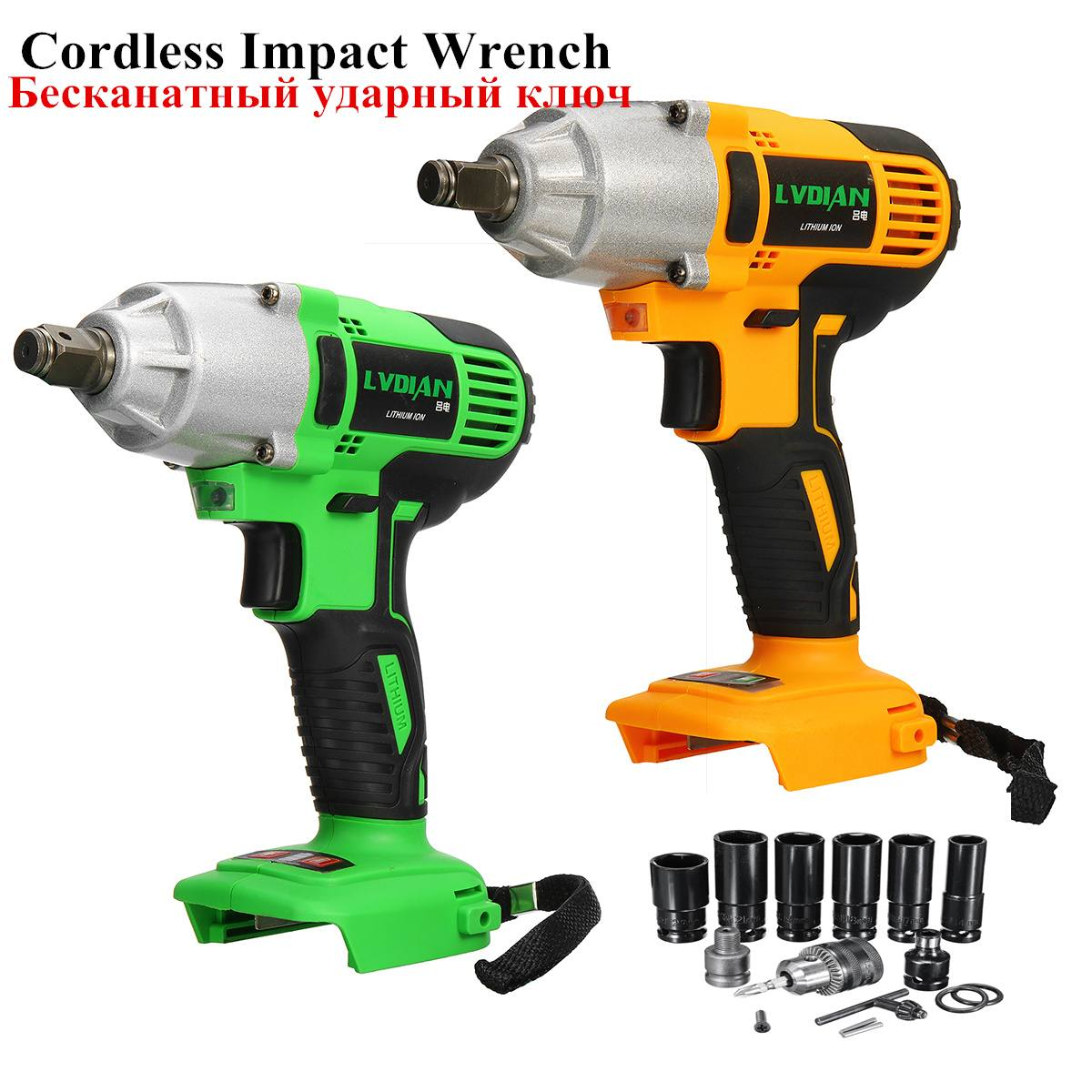 Cordless Impact Wrench 630NM Electric Wrench Replacement For Makita Battery Impact Wrench Body Only Battery Drill With Sockets