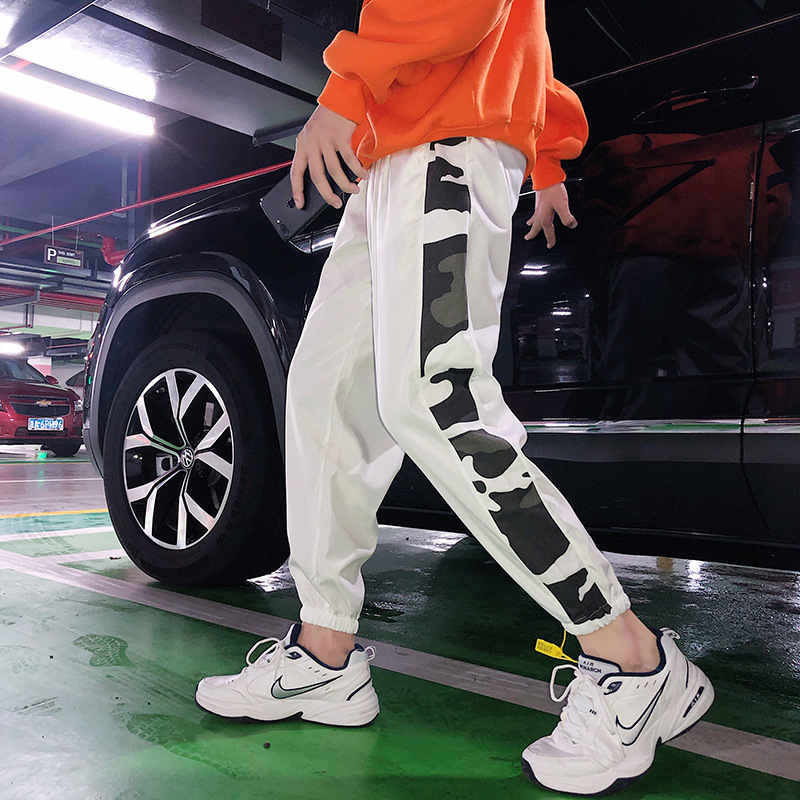 Hip Hop Popular Brand Athletic Pants Men's Loose-Fit Korean-style Trend Capri Pants Men's Trousers Hong Kong Style INS Online Ce