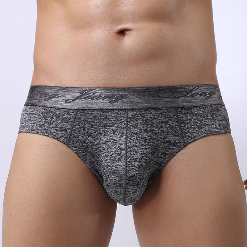 New Men's Briefs Sexy Comfy Breathable Pouch Y Front Briefs Solid Color Underpants Male Underwear Intimates