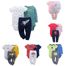 Malapina bebê recém-nascido da menina do menino algodão dinossauro macacão roupas de manga comprida macacão calças 2pc conjunto de roupa da criança infantil custome
