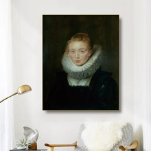 Canvas Art Oil Painting《Portrait of Lady-in-Waiting to the Infanta Isabella》Rubens Poster Wall Decor Decoration For Living room