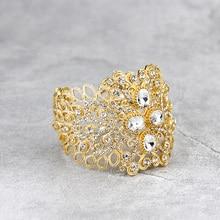 Bracelet Bangle Wedding-Jewelry Dubai Morocco Sunspicems Rhinestone-Cuff Arabic Ethnic