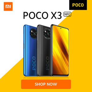 [World Premiere Flash Sale In Stock] POCO X3 NFC Snapdragon 732G Global Version Xiaomi Smartphone 5160mAh 33W Charge 64MP Camera