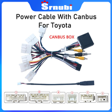 Auto 16 Pin Android Kabelboom Power Cable Adapter Met Canbus Voor Toyota Corolla/Camry/RAV4/crown/Reiz Netsnoer Met Canbus