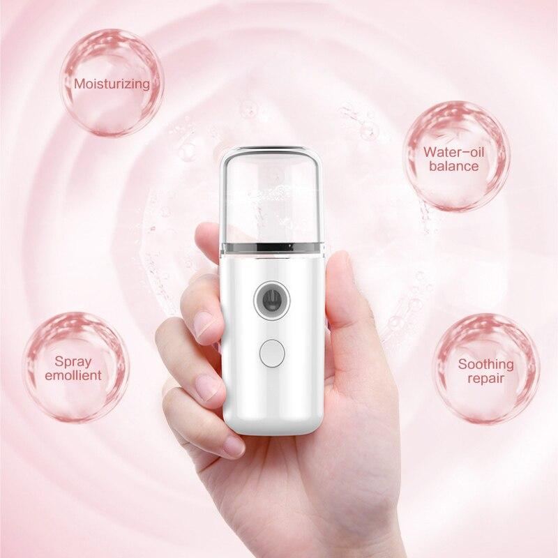 נייד לחות ערפל פנים מרסס פנים Nebulizer Steamer USB לחות טיפוח עור מיני 30ml תרסיס יופי Dropship