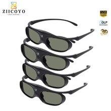 Аккумуляторная 3D очки с активным затвором 96 144 Гц для BenQ Acer Optoma Hitachi Sony JmGo XGIMI Panasonic Проекторы Vivitek Coolux