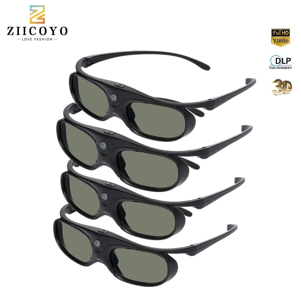 Аккумуляторная 3D-очки с активным затвором 96-144 Гц для BenQ Acer Optoma Hitachi Sony JmGo XGIMI Panasonic Проекторы Vivitek Coolux