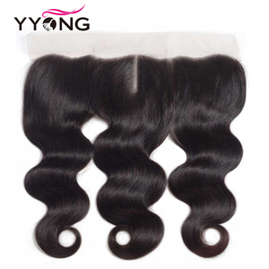 Image 5 - YYong 13x4 Lace Frontal With Bundles Peruvian Body Wave 3 Bundles With Frontal Remy Human Hair With Frontal Closure Cheuveux
