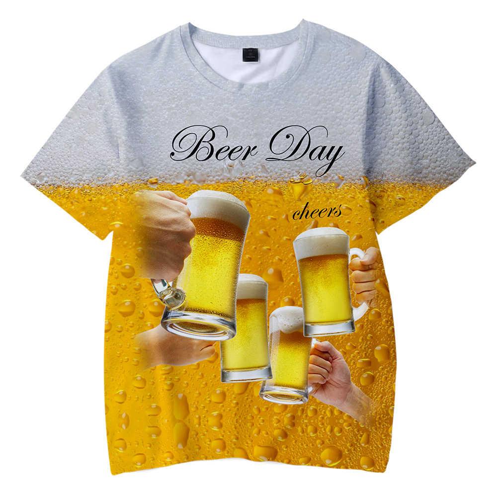 Oktoberfest Día de la cerveza 3D Verano de manga corta para adultos/niños camiseta 2019 mujeres/hombres Highstreet Cool padres-niños familia de manga corta