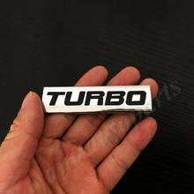 3D metalowe chromowane Turbo T 2.0 2.5 3.0 bagażnik samochodowy tylna emblematowa plakietka kalkomania