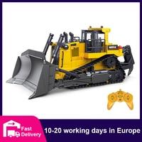 HUINA 1:16 RC Lkw Schwere Bulldozer Raupe Legierung Traktor Modell Engineering Auto Bagger Radio Gesteuert Auto Spielzeug für Jungen