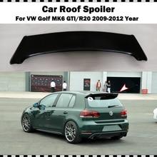 цена на Fiber glass rear roof spoile For VW golf 6 2009-2012 MK6 GTI R20 FRP matte black primer rear trunk wing (only fit GTI&R20)