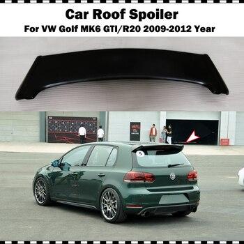 Fiber glass rear roof spoile For VW golf 6 2009-2012 MK6 GTI R20 FRP matte black primer rear trunk wing (only fit GTI&R20)