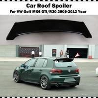 Z włókna szklanego tylny dach spoile dla VW golf 6 2009 2012 MK6 GTI R20 FRP matowy czarny podkład z tyłu bagażnika skrzydło (tylko nadające się GTI i R20) w Spoilery i skrzydła od Samochody i motocykle na