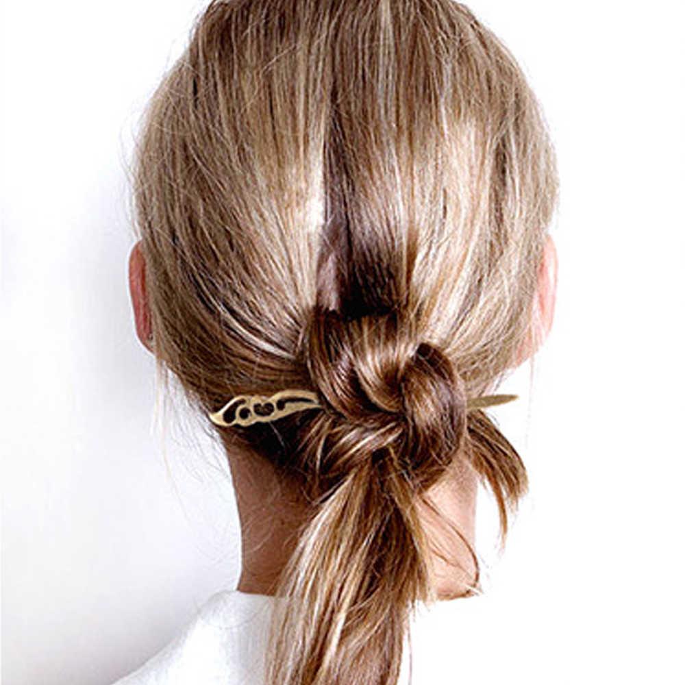 נשים בציר רטרו מתכת בעבודת יד שיער מקלות שיער מקלות אכילה סיני בסגנון כלה חתונה נזר שיער קליפ תכשיטי אבזרים