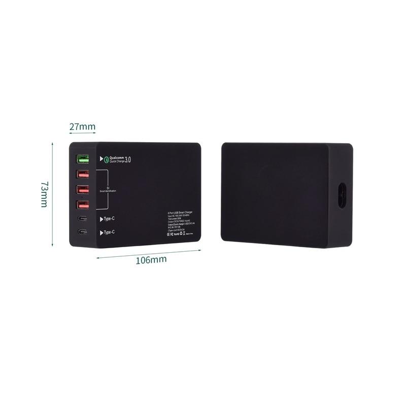 Купить быстрая зарядка с 6 портами быстрая qc 30 зарядная станция портом