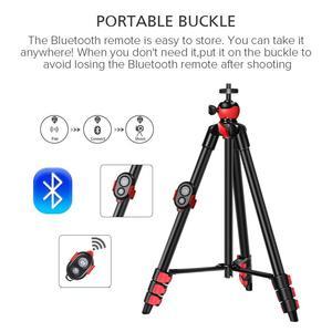 Image 4 - ZOMEI Phone tripod lightweight professional mini tripode Bluetooth Remote control smartphones clip for phone projector telescope